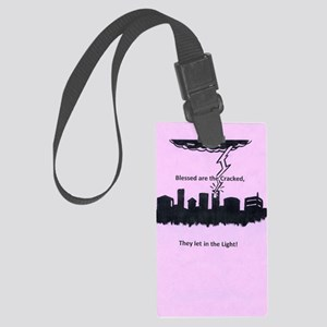 blessed are the cracked Large Luggage Tag