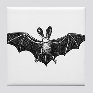 Bat illustation Tile Coaster