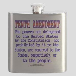 Tenth Amendment Flask