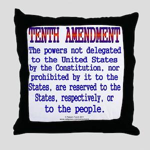 Tenth Amendment Throw Pillow