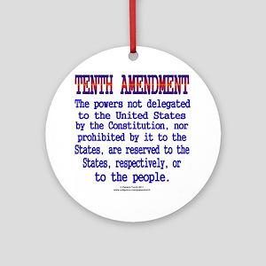 Tenth Amendment Round Ornament