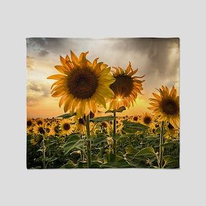 Sunflower Starburst Throw Blanket