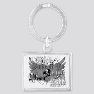 meant-to-be-alone-fordarks Landscape Keychain