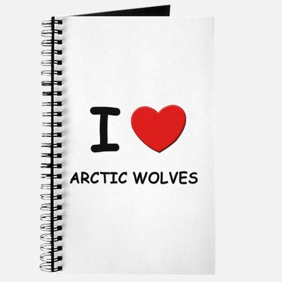 I love arctic wolves Journal