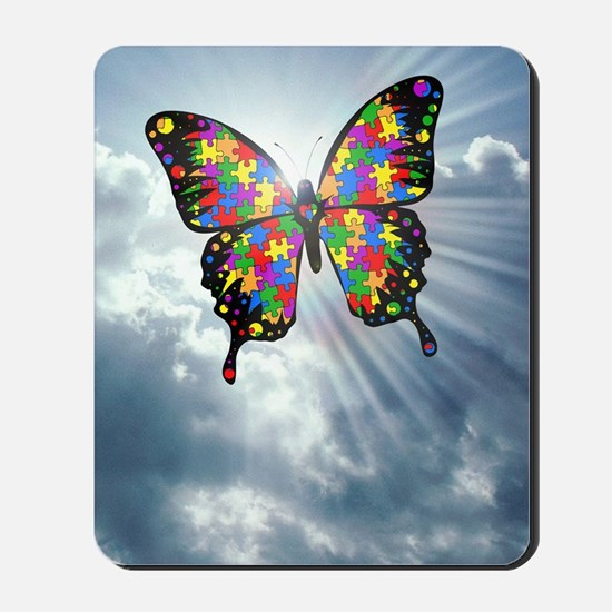 autismbutterfly - sky journal Mousepad