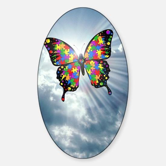 autismbutterfly - sky journal Sticker (Oval)