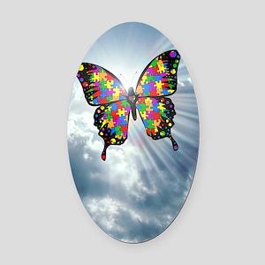 autismbutterfly - sky journal Oval Car Magnet