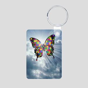 autismbutterfly - sky jour Aluminum Photo Keychain