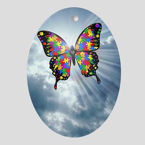 autismbutterfly - sky journal Oval Ornament