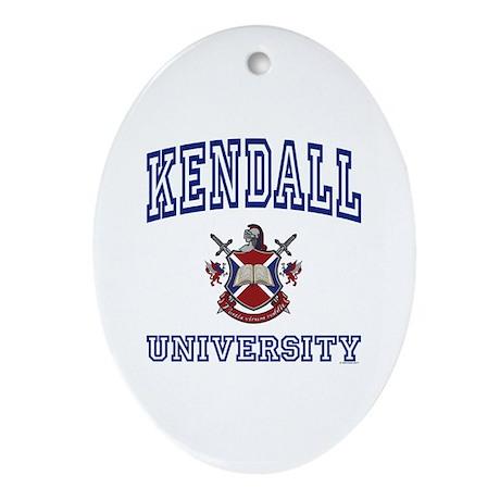 KENDALL University Oval Ornament
