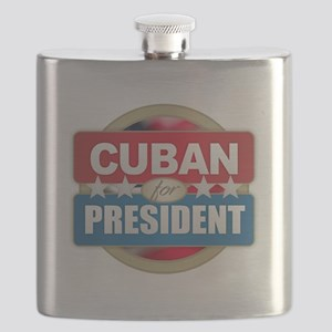 Cuban for President Flask