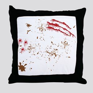 other-back-bloody Throw Pillow