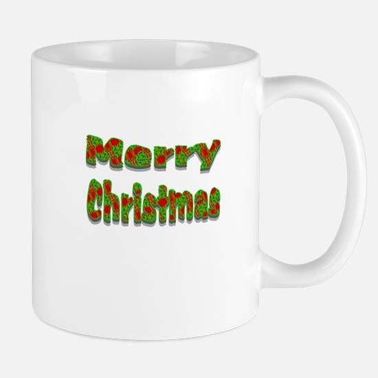 Merry Christmas red green Mugs