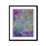 Heart of Light Abstract Flames Framed Panel Print