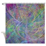 Heart of Light Abstract Flames Shower Curtain