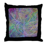 Heart of Light Abstract Flames Throw Pillow