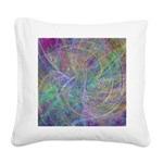 Heart of Light Abstract Square Canvas Pillow