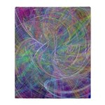 Heart of Light Abstract Flames Throw Blanket