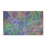 Heart of Light Abstract Flames 3'x5' Area Rug
