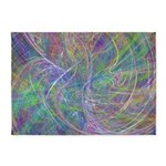 Heart of Light Abstract Flames 5'x7'Area Rug