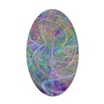 Heart of Light Abstract 35x21 Oval Wall Decal