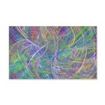 Heart of Light Abstract Flames 20x12 Wall Decal