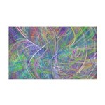 Heart of Light Abstract Flames 35x21 Wall Decal