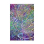 Heart of Light Abstract Flames Mini Poster Print