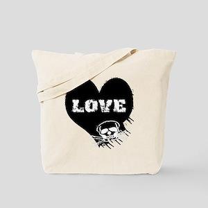 love_skull_blk Tote Bag