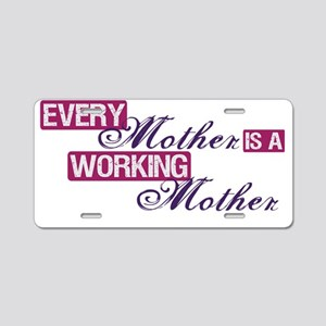 working mother Aluminum License Plate