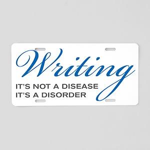 Writing Disorder Aluminum License Plate
