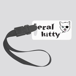 Kitty w patch Small Luggage Tag