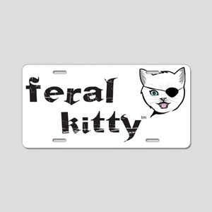 Kitty w patch Aluminum License Plate