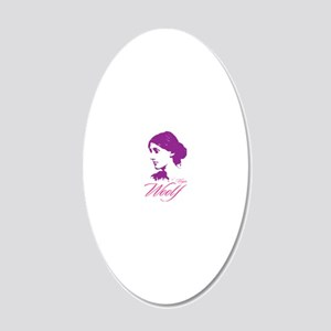 Virginia Woolf 20x12 Oval Wall Decal