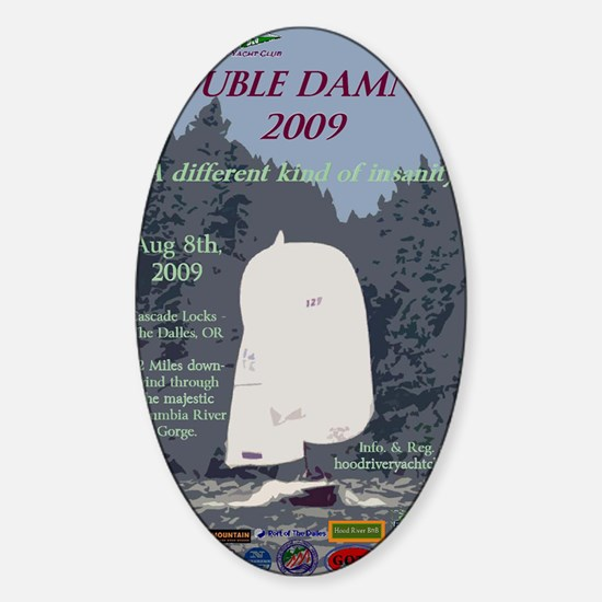 Double Damned Showbill 2009 Sticker (Oval)