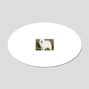 Japanese Spitz 9Y576D-265 20x12 Oval Wall Decal