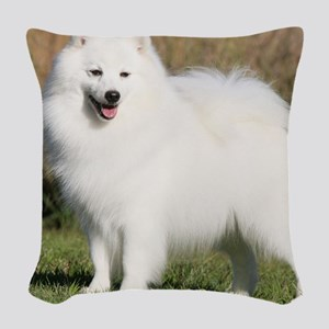 Japanese Spitz 9Y576D-265 Woven Throw Pillow