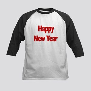 Red Happy New Year Baseball Jersey