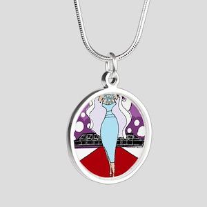 highmaintenace Silver Round Necklace