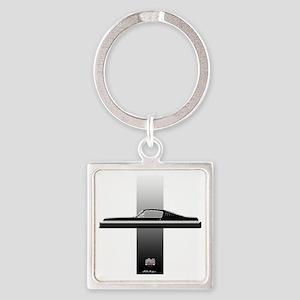 mustangPlain Square Keychain