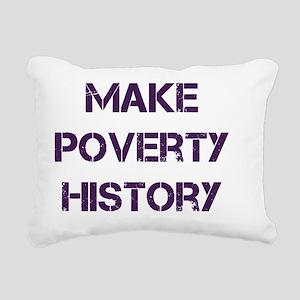 poverty Rectangular Canvas Pillow