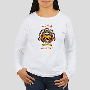 Personalize Little Gobbler Women's Long Sleeve T-S
