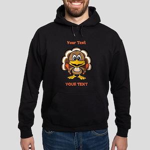 Personalize Little Gobbler Hoodie (dark)