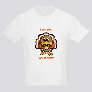 Personalize Little Gobbler Kids Light T-Shirt
