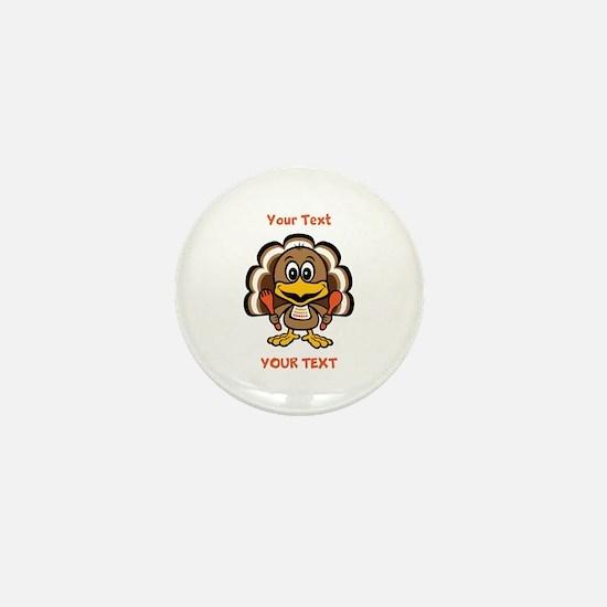 Personalize Little Gobbler Mini Button