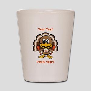 Personalize Little Gobbler Shot Glass