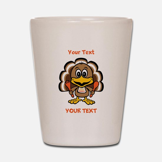 Personalize Little Gobbler Shot Glass