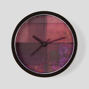 burgundy touch Wall Clock