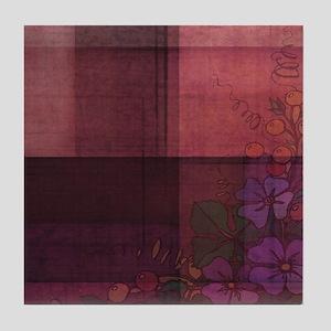 burgundy touch Tile Coaster