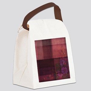 burgundy touch Canvas Lunch Bag